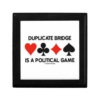 Duplicate Bridge Is A Political Game (Card Suits) Jewelry Box