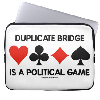 Duplicate Bridge Is A Political Game (Card Suits) Laptop Sleeve