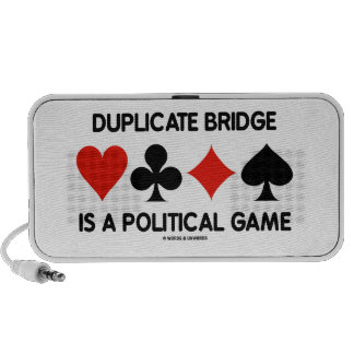 Duplicate Bridge Is A Political Game Card Suits iPhone Speakers