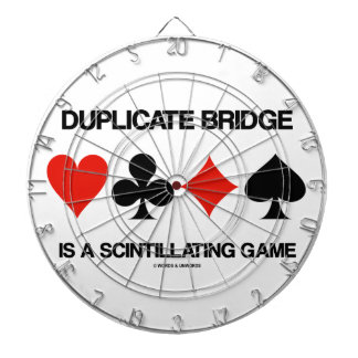 Duplicate Bridge Is A Scintillating Game Dartboard With Darts