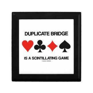 Duplicate Bridge Is A Scintillating Game Keepsake Box