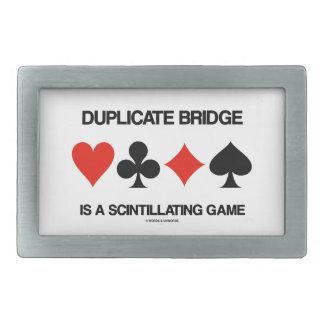 Duplicate Bridge Is A Scintillating Game Rectangular Belt Buckle