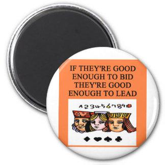 duplicate bridge joke 2 inch round magnet