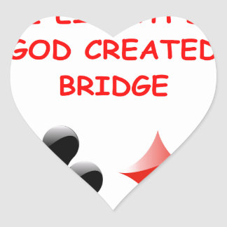 duplicate bridge joke heart sticker