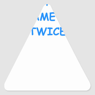 duplicate bridge joke triangle sticker