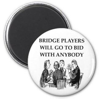 duplicate bridge jokes 2 inch round magnet