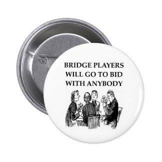 duplicate bridge jokes pinback buttons