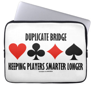 Duplicate Bridge Keeping Players Smarter Longer Laptop Sleeve
