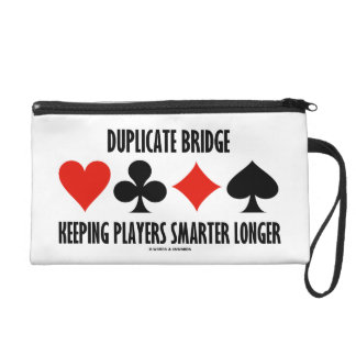 Duplicate Bridge Keeping Players Smarter Longer Wristlet