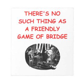 duplicate bridge memo note pad