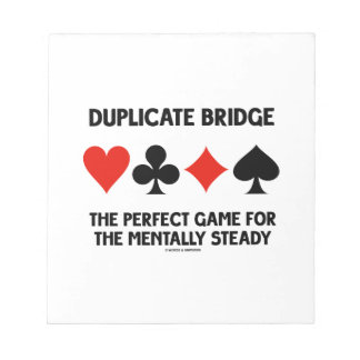 Duplicate Bridge Perfect Game For Mentally Steady Notepads