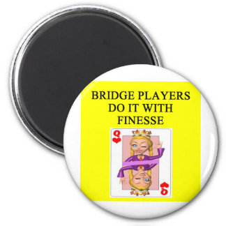 duplicate bridge player 2 inch round magnet