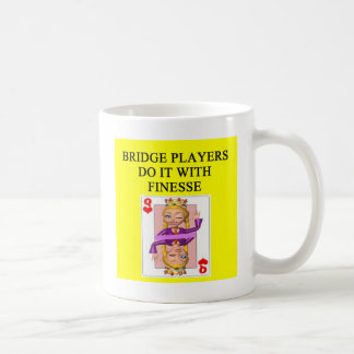 duplicate bridge player coffee mug