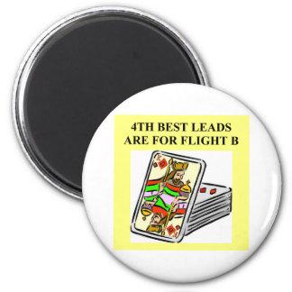 duplicate bridge player design 2 inch round magnet