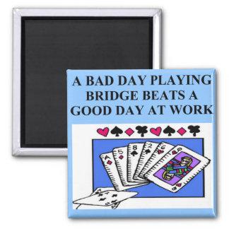 duplicate bridge player design 2 inch square magnet