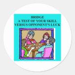 duplicate bridge player design classic round sticker