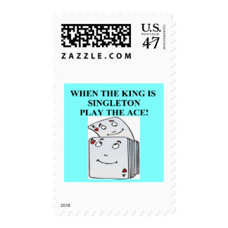 duplicate bridge player design postage