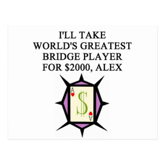 duplicate bridge player design postcard