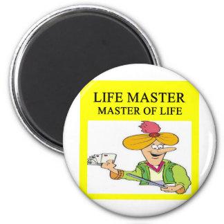 duplicate bridge player joke 2 inch round magnet