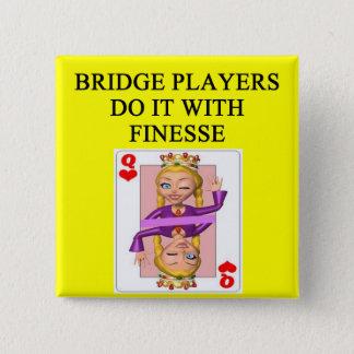 duplicate bridge player pinback button
