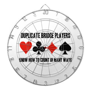 Duplicate Bridge Players Know How To Count Dartboards