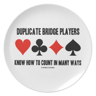 Duplicate Bridge Players Know How To Count Melamine Plate