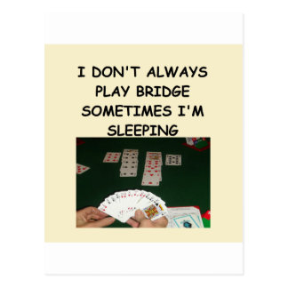 duplicate bridge postcard