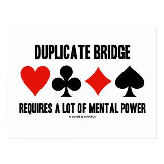 Duplicate Bridge Requires A Lot Of Mental Power Postcard