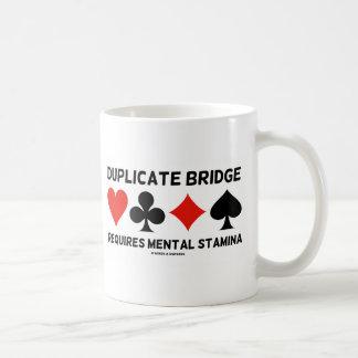 Duplicate Bridge Requires Mental Stamina Classic White Coffee Mug