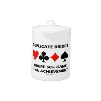 Duplicate Bridge Where 50% Game Is An Achievement