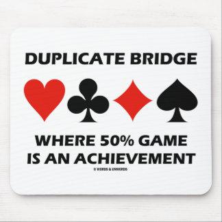 Duplicate Bridge Where 50% Game Is An Achievement Mouse Pad