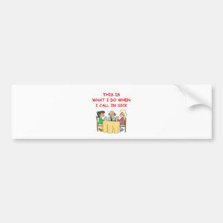 duplicate brisge bumper sticker