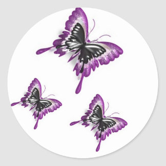 Duplicated Butterflies-Sticker Classic Round Sticker