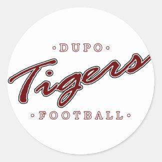 Dupo Football Classic Round Sticker