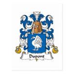 Dupont Family Crest Postcard