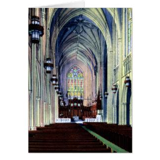 Duque Chapel de Durham Carolina del Norte Tarjeton