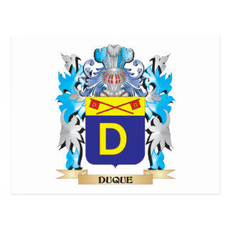 Duque Coat of Arms - Family Crest Post Cards