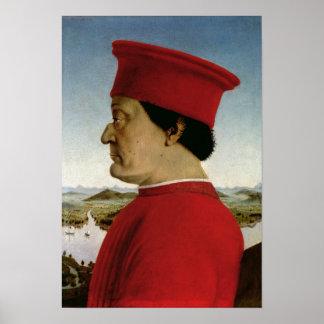Duque de Federigo DA Montefeltro de Urbino, c.1465 Póster