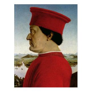 Duque de Federigo DA Montefeltro de Urbino, c.1465 Tarjetas Postales