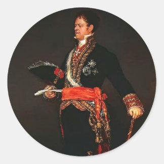 Duque de Francisco Goya- de San Carlos Pegatina Redonda