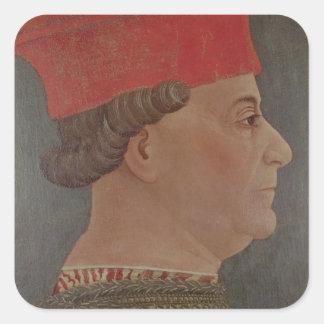 Duque de Francisco Sforza de Milano Calcomania Cuadradas Personalizada