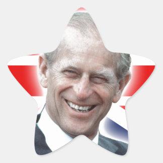 ¡Duque de HRH de Edimburgo - grande! Pegatina En Forma De Estrella