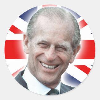 ¡Duque de HRH de Edimburgo - grande! Pegatina Redonda