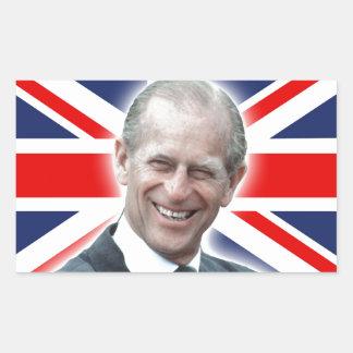 ¡Duque de HRH de Edimburgo - grande! Pegatina Rectangular