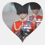 Duque de HRH de Edimburgo Calcomania De Corazon Personalizadas