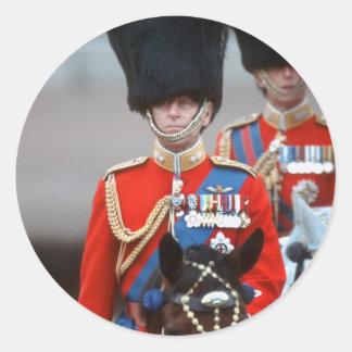 Duque de HRH de Edimburgo Pegatina Redonda