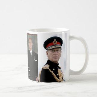 Duque de HRH de Edimburgo Taza Básica Blanca