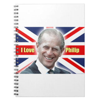Duque de HRH de Einburgh - amor Philip de I Libro De Apuntes
