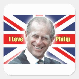 Duque de HRH de Einburgh - amor Philip de I Pegatina Cuadrada