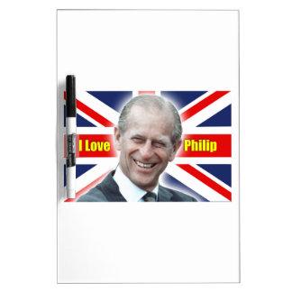 Duque de HRH de Einburgh - amor Philip de I Tableros Blancos